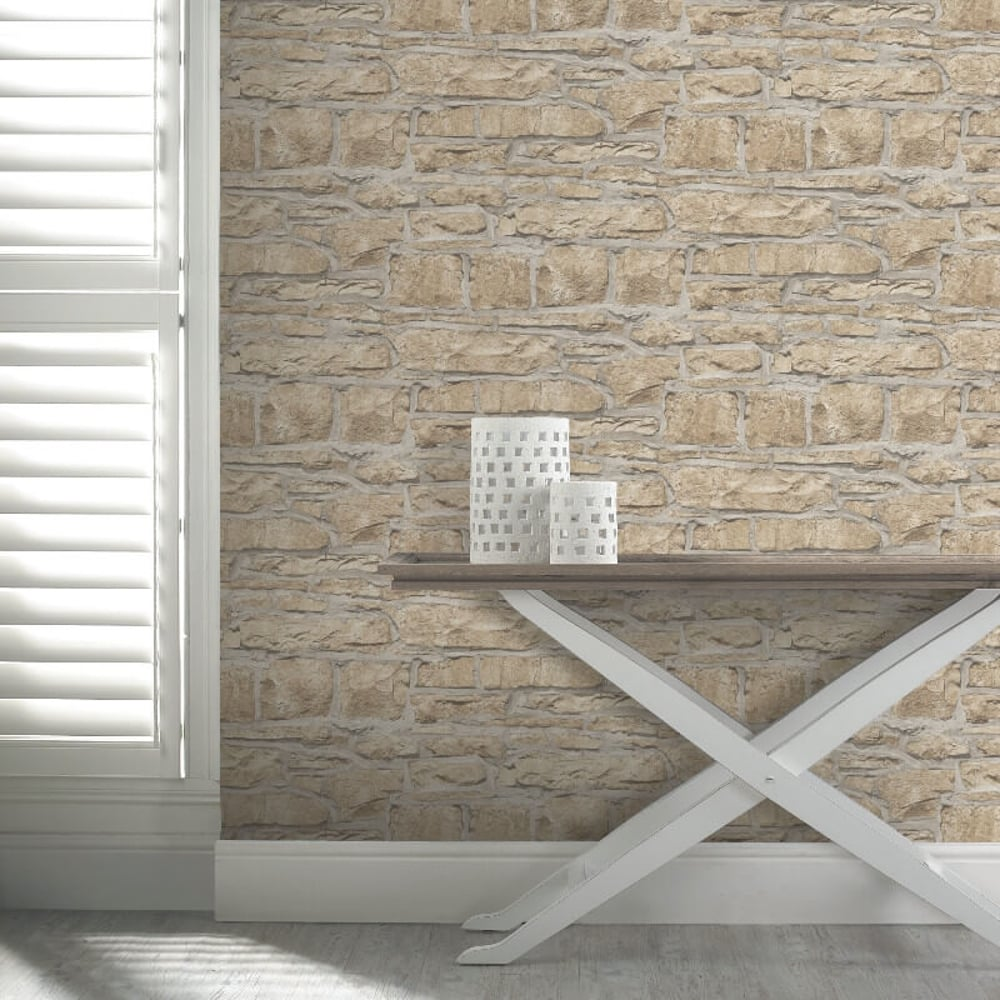 3d Peel And Stick Brick Wallpaper Arthouse Church Stone Pattern Wallpaper Faux Textured