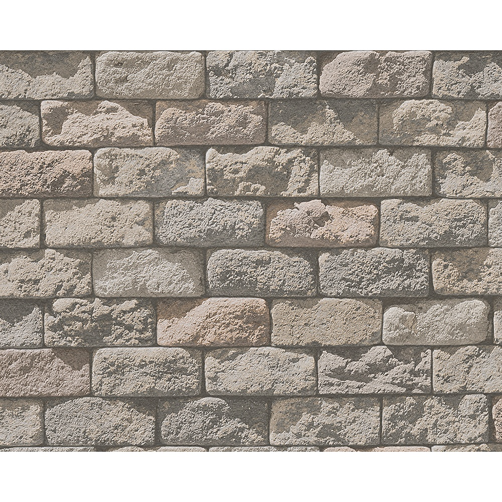3d Effect Stone Brick Wall Textured Vinyl Wallpaper As Creation Stone Brick Pattern Photo Embossed Vinyl