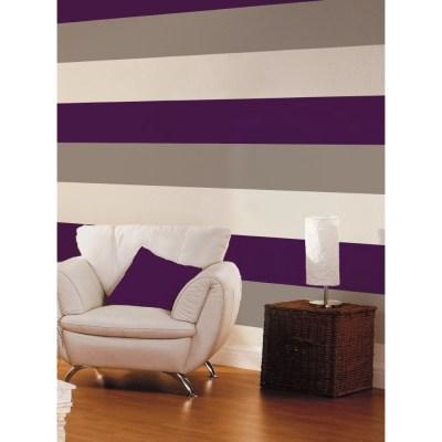 Direct Stripe 3 Colour Motif Textured Designer Vinyl Wallpaper E40936