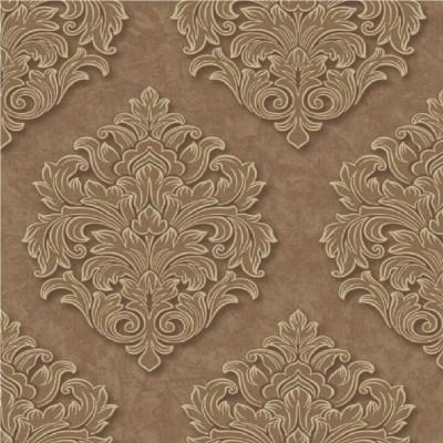 Grandeco Venice Large Damask Textured Embossed Blown Vinyl Wallpaper VNA-005-006-3 - Chocolate ...