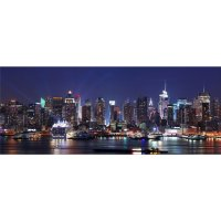 New York Night Time Light Up LED Photographic Wall Art DF15075