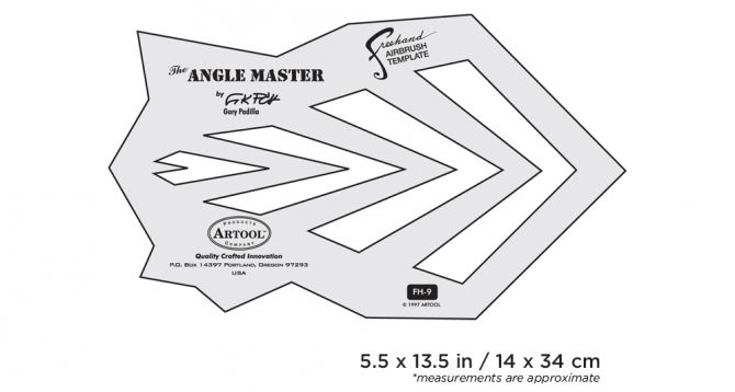 Artool #9 The Angle Master Freehand Airbrush Template by Gary