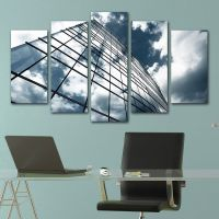 Office wall art decoration set of 5 pieces Office building
