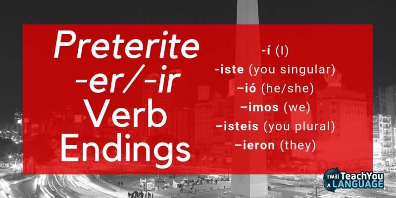 Preterite vs Imperfect In Spanish I I Will Teach You A Language