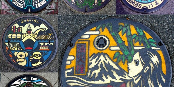 Beautiful Manhole Art on the Streets of Japan