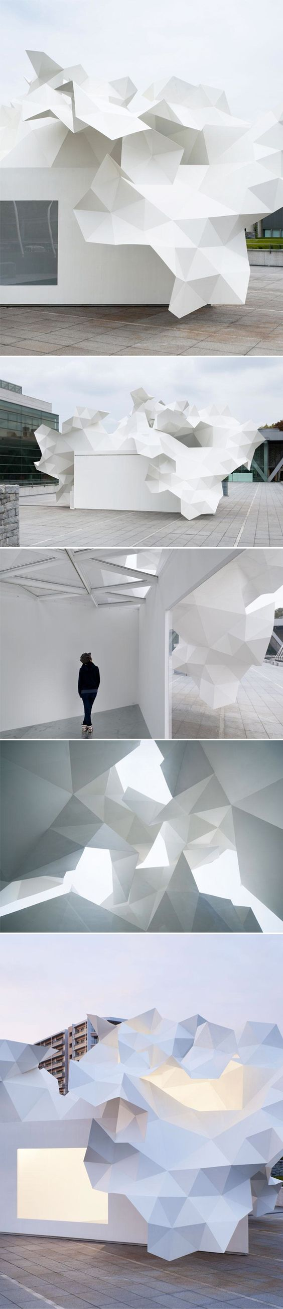 Akihisa Hirata's Bloomberg Pavillion is located in front of the main entry of the Tokyo Contemporary Art Museum