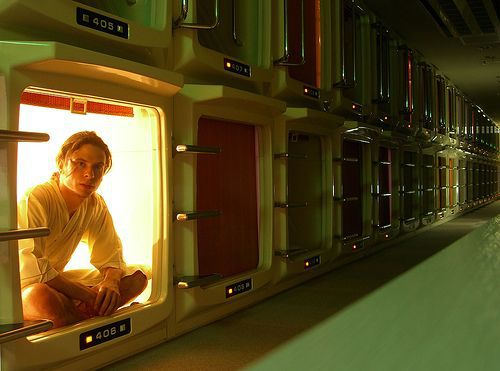 Capsule hotels, they are everywhere in Japan