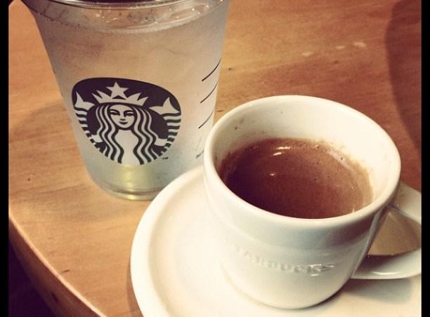 Morning kickstart espresso #starbucks