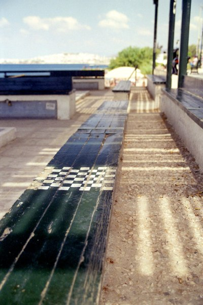 Bench with Chessboard
