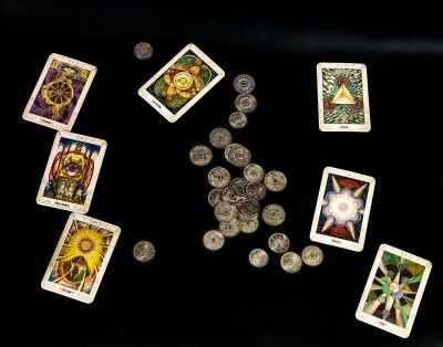 Composition with Tarot Cards and Coins
