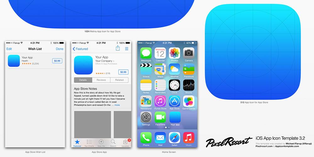 Best iOS7 UI / GUI Kits \u2013 Free Downloads Jackrabbit - iphone app icon template