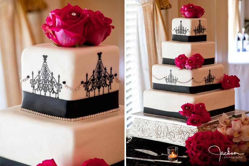 Black And White Wedding Cakes With Pink Flowers - 5000+ Simple