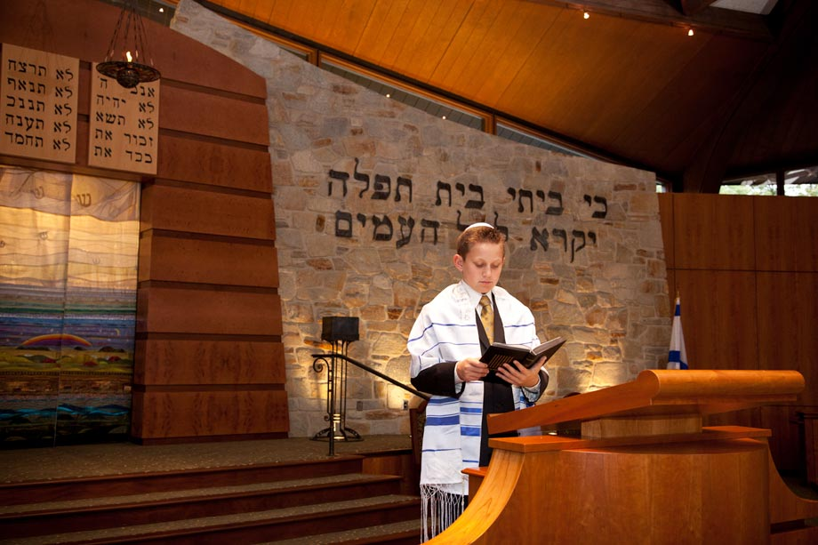 boy at synagogue