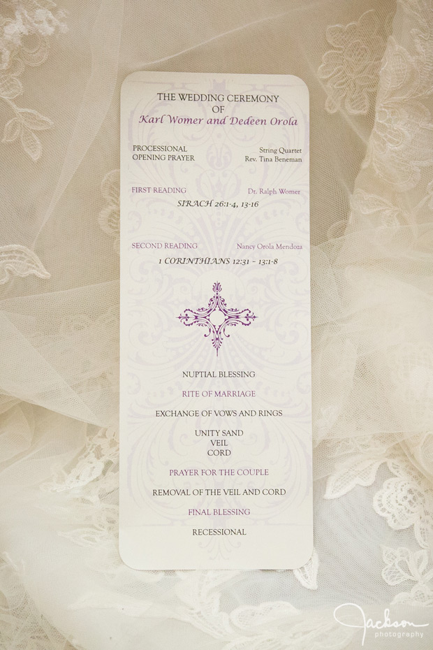 wedding invitation on lace