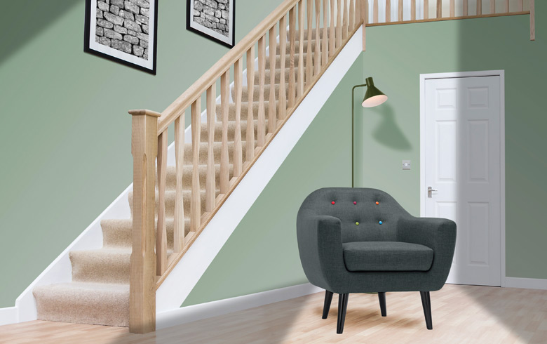 White Oak Stair Parts Ideal For Staining And Polishing