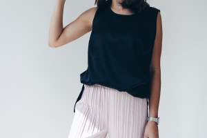 Outfit Black and Rose Culotte 2
