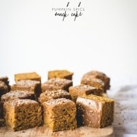 Pumpkin Spice Snack Cake with Maple Glaze