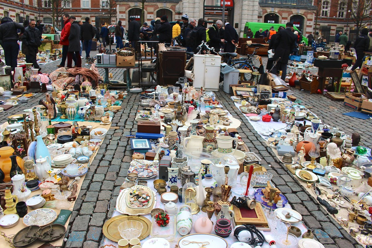 The Marolles Flea Market, Brussels, Belgium