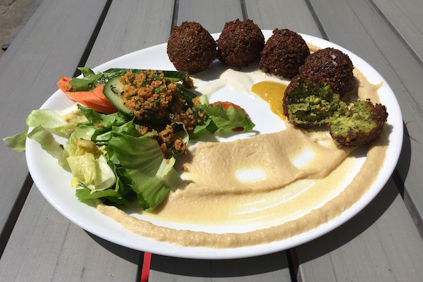 Dada Falafel has the best falafel in Berlin! This Mitte hotspot is a must. #Berlin #Falafel