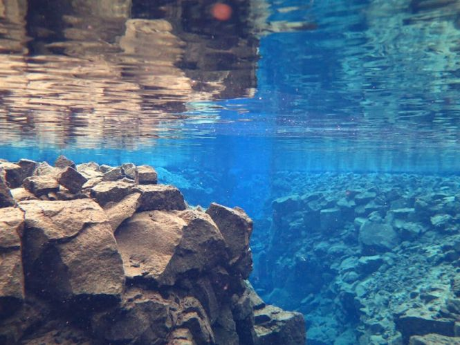 Snorkeling in the Silfra Fissure in Iceland is an absolute must do! #snorkeling #Iceland