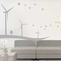 JAF Graphics. Wind Turbine Wall Sticker, Windmill Wall ...