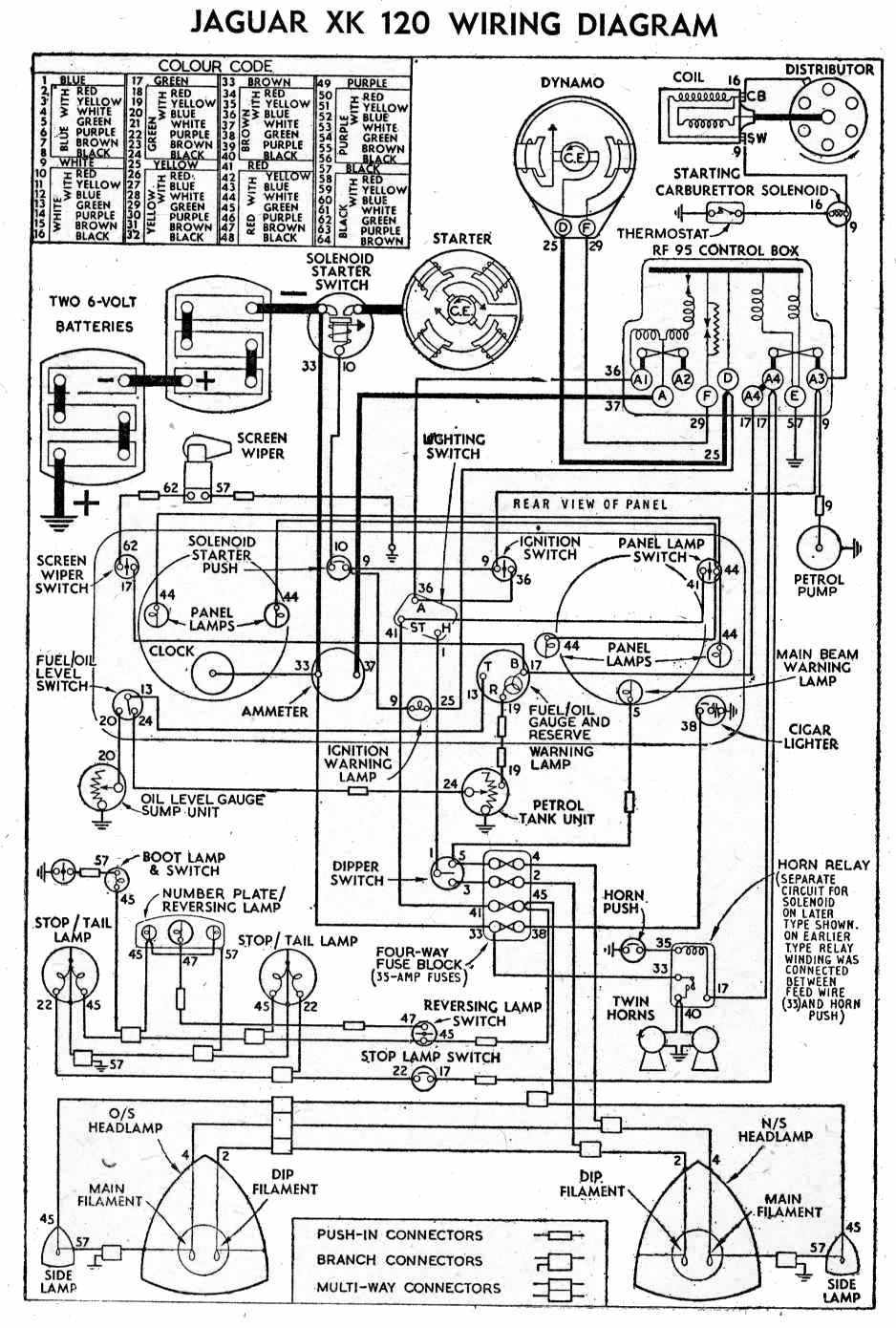 Wiring Diagrams Jaguar Xk120 Diagram Libraries Fender P J B 1954 Todays1954