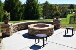 Small Of Stone Fire Pit