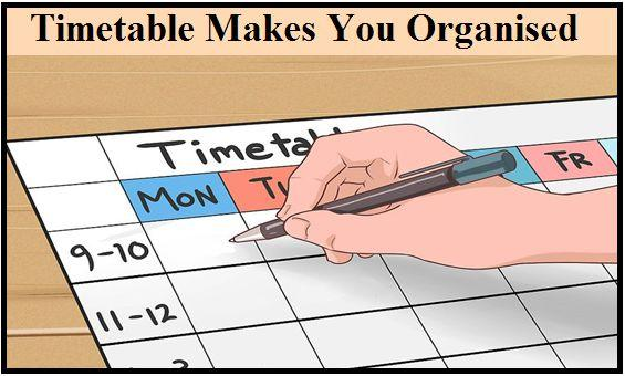 Effective Study Timetable for CBSE Students - study timetable