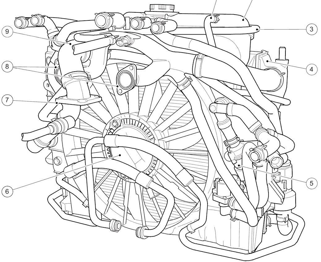 jaguar engine coolant leak