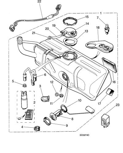 jaguar xjr fuel filter location