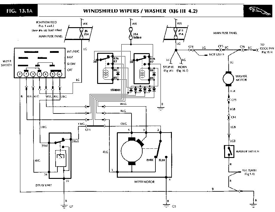 jaguar s type wiper motor wiring diagram