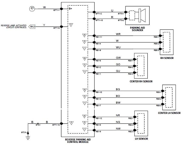 Park Sensor Wiring Diagram Wiring Diagram 2019