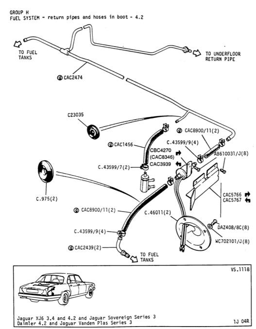 jaguar xj fuel tanks