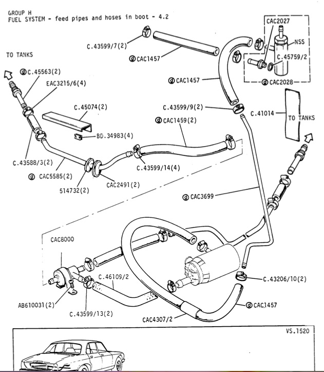 jaguar fuel pressure diagram