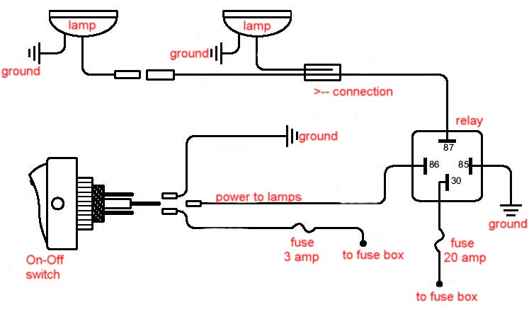 3 Way Light Switch And Relay Wiring Diagram With Driving Online