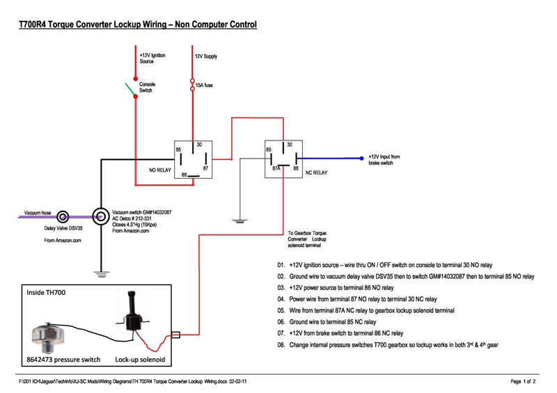 700r4 transmission lock up wiring diagram
