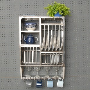 Metal Plate Rack with plant