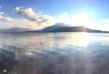 Lac en fin d'après midi