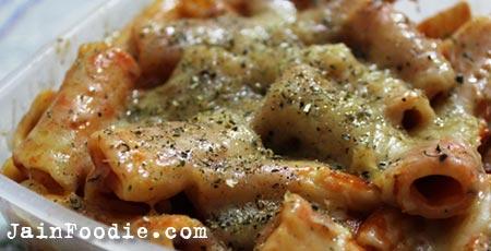 Half And Half Pasta Recipe | Jain Food Recipes