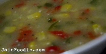 Jain Sweet Corn Soup