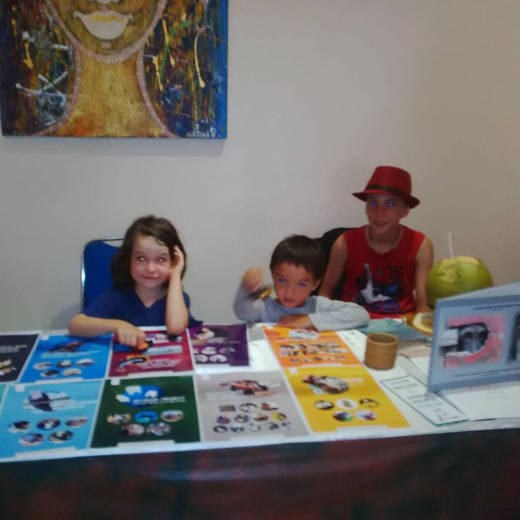 Little JAAN minions helping out at our booth at thehellip