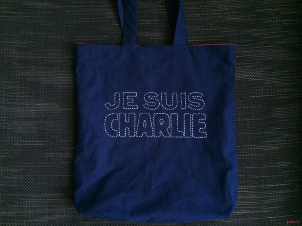 Jakecii Je Suis Charlie Sashiko - Sac tote