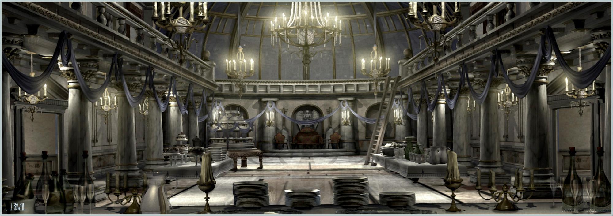 3d Horror Vampire Wallpaper Final Fantasy Ix Castle Inside Art Jake L Rowell