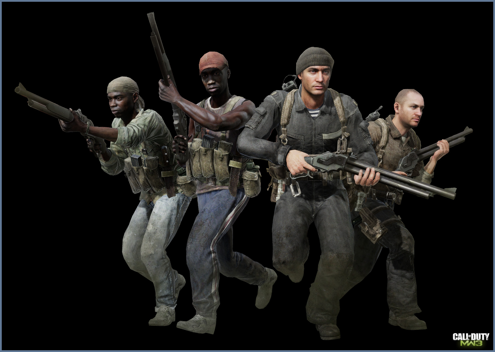 Mw3 3d Wallpapers Call Of Duty Modern Warfare 3 Posed Characters Art
