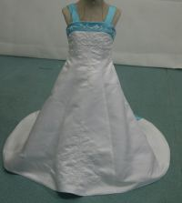 Colorful bridal gowns   color accents bridal gown.