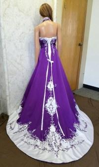 Purple And White Wedding Dresses - Cheap Wedding Dresses