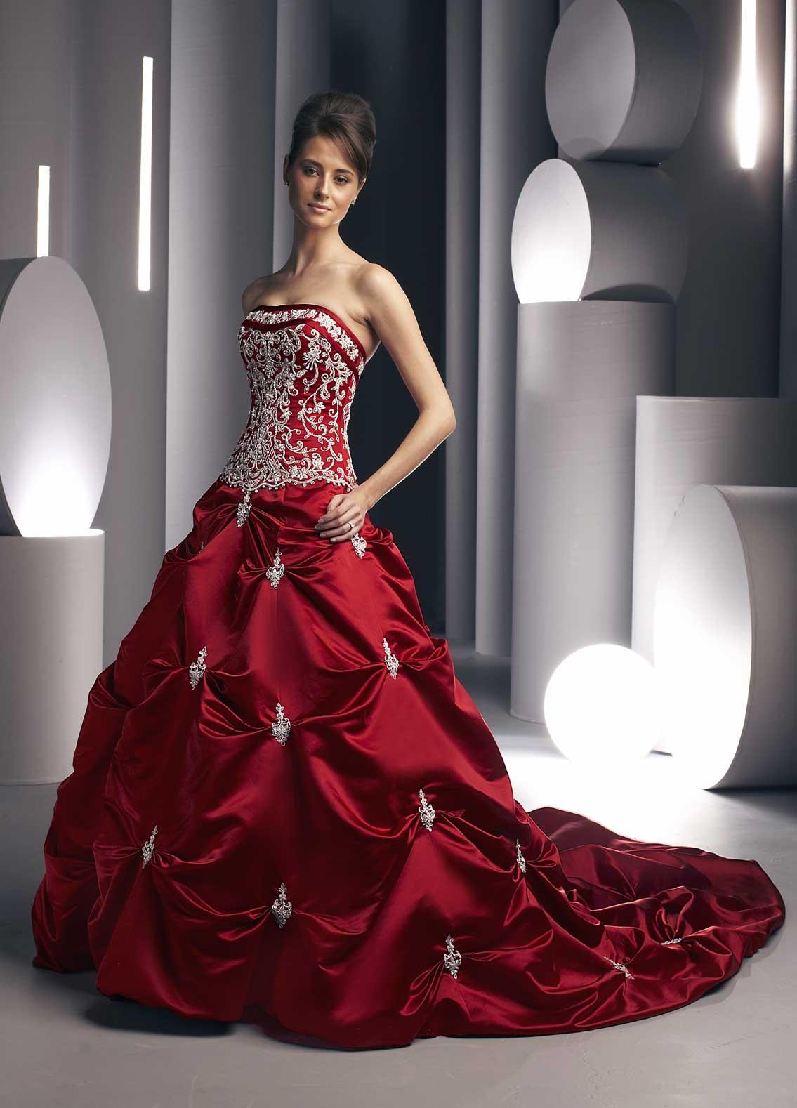 Aimee 79 wedding gown red wedding dress