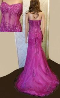 Corset Prom dress ~ Strapless corset prom dresses