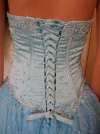 Corset gown - Corset style bodice.