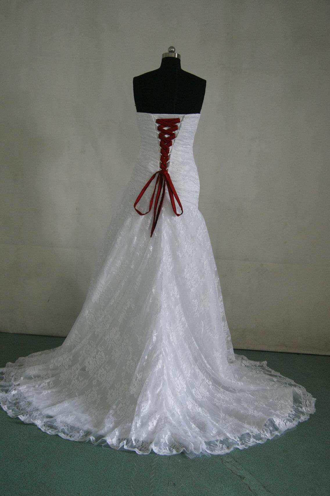 white wedding dresses with red lace red lace wedding dress White Wedding Dresses With Red Lace 83